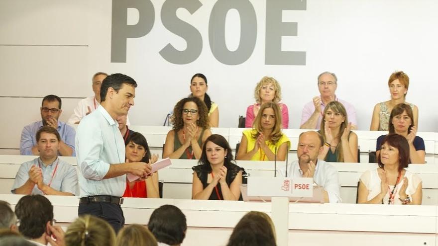 Pedro Sánchez durante el Comité Federal del pasado sábado