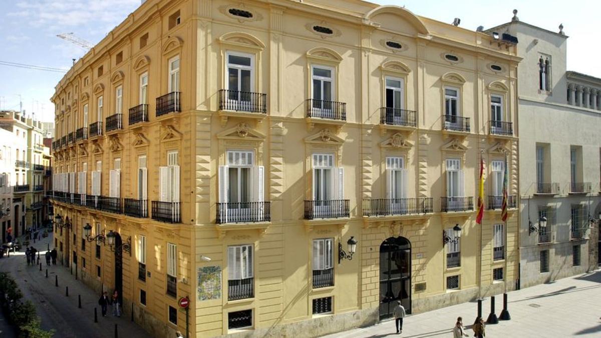 La sede de la Diputación de Valencia, en el palau de la Batlia.