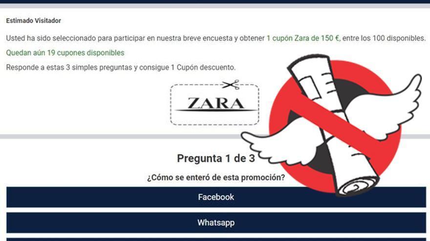 Falsa promoción de Zara.
