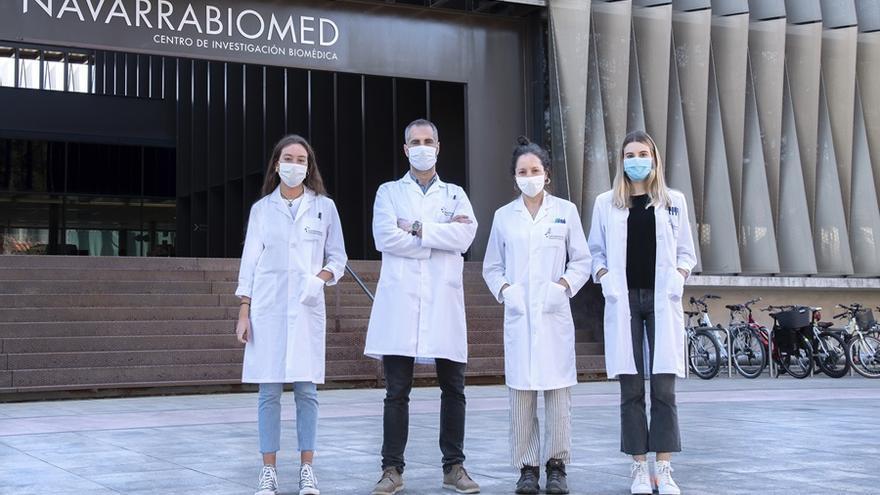 Equipo de la Unidad de Cristalografía de Proteínas de Navarrabiomed, participantes en este proyecto