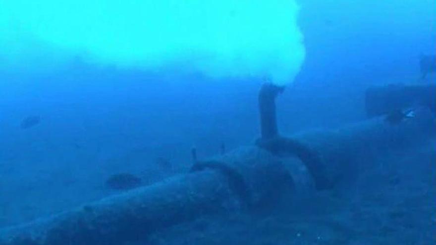 Emisario submarino del polígono de Güímar, que vierte residuos sin tratamiento previo