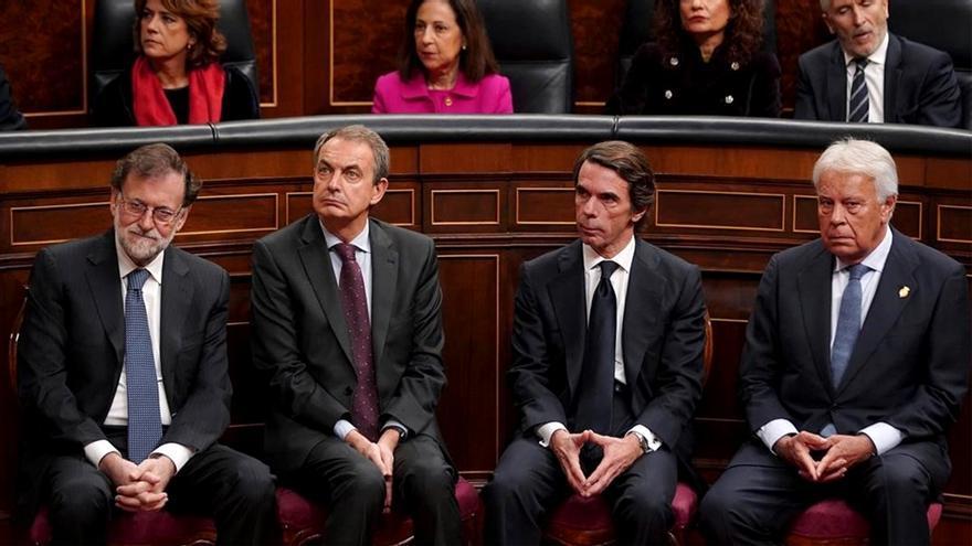 Rajoy, Zapatero, Aznar y Felipe González