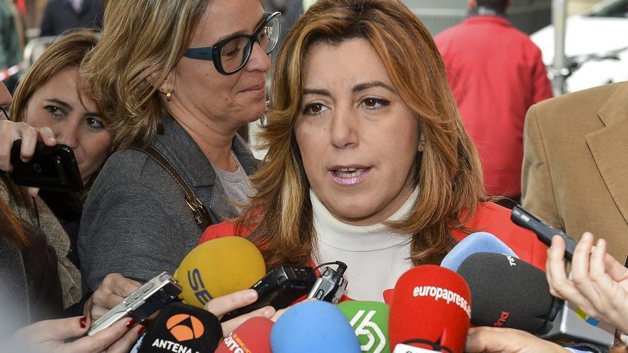 """Susana Díaz da por seguro el aval del Comité Federal al acuerdo con C's y espera que haya gobierno """"cuanto antes"""""""