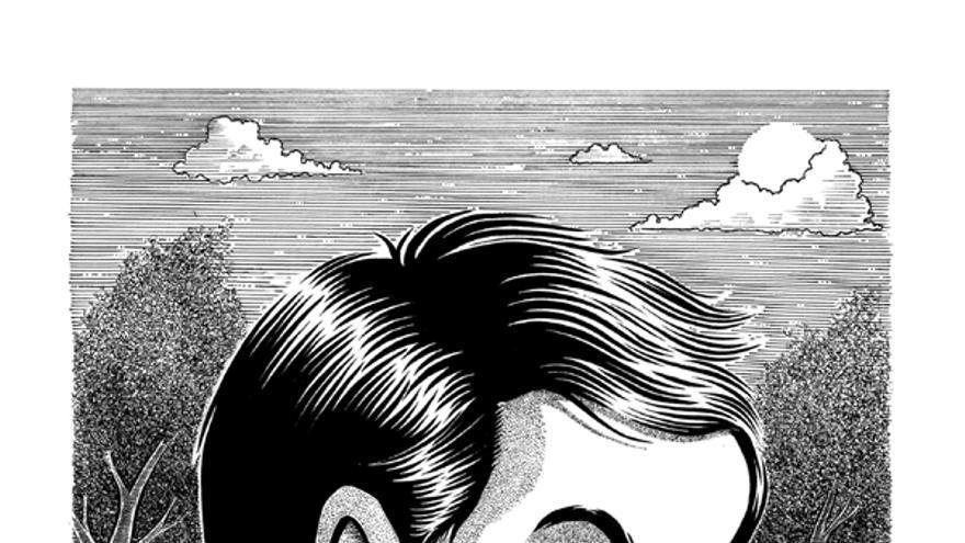 Ilustración de Mario Rivière para Diario de los asesinos de la editorial La Felguera