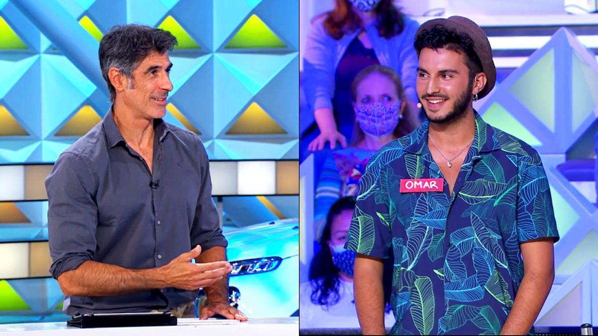 Jorge Fernández y Omar, concursante de 'La Ruleta'