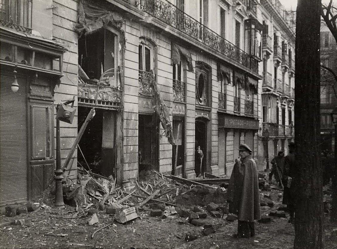 Calle de Vázquez de Mella durante la Guerra Civil. Archivo Rojo