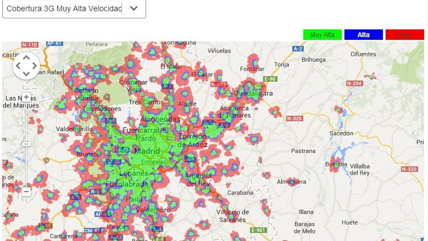 Así es la cobertura 3G de Vodafone por algunas zonas de España .jpg