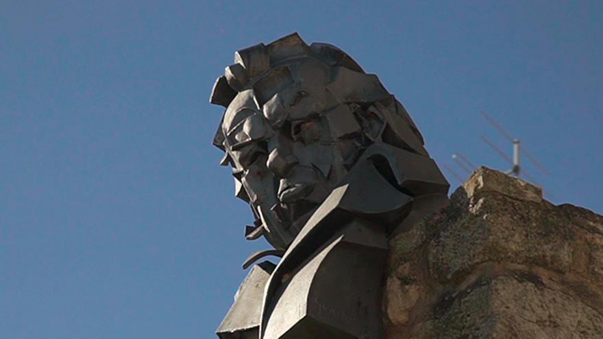 Busto de Francisco de Goya en Fuendetodos.