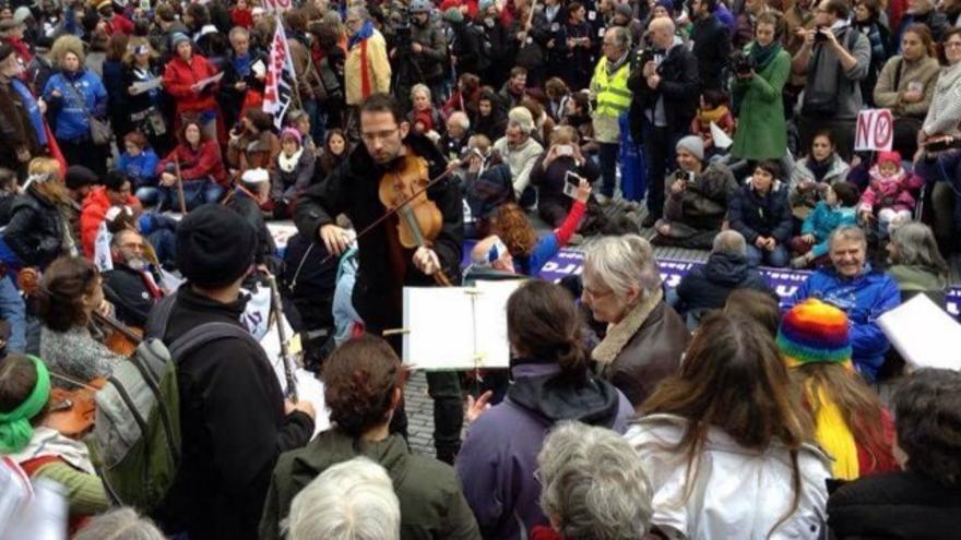Actuación de La Solfónica en Bruselas