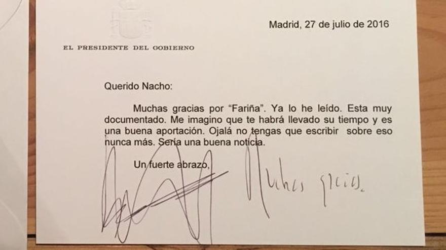 Rajoy, Fariña y Pablo Iglesias: historia de una felicitación