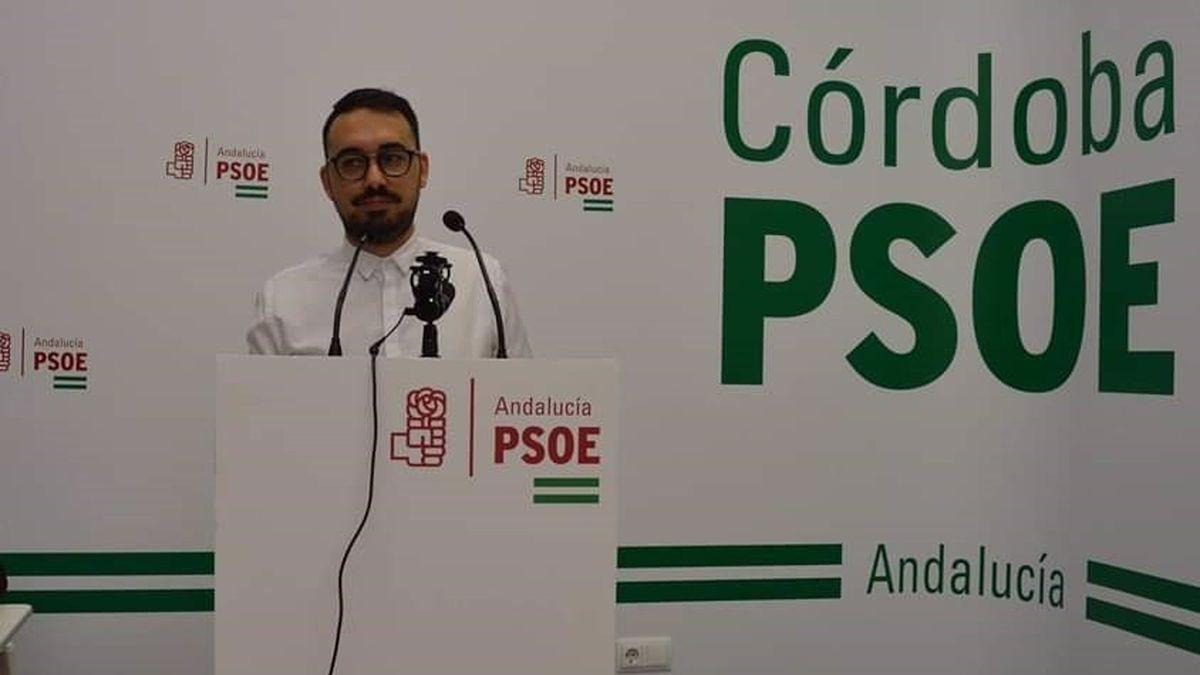 El secretario general de Juventudes Socialistas de Andalucía (JSA) en Córdoba capital, Miguel Porras.