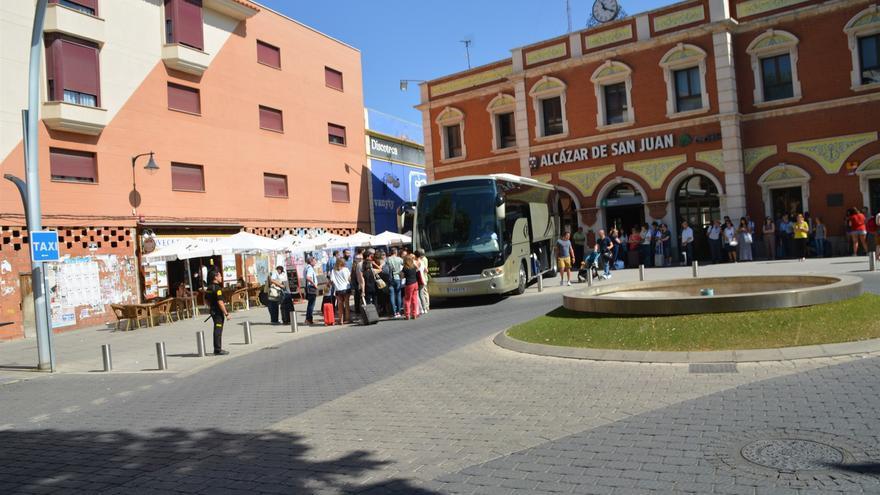 Pasajeros que iban en autobús desde Alcázar a Madrid