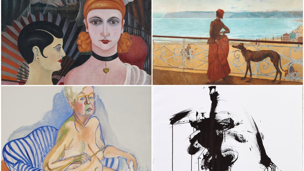 Obras que forman parte de las ocho exposiciones con las que contará el Museo Guggenheim Bilbao durante 2021