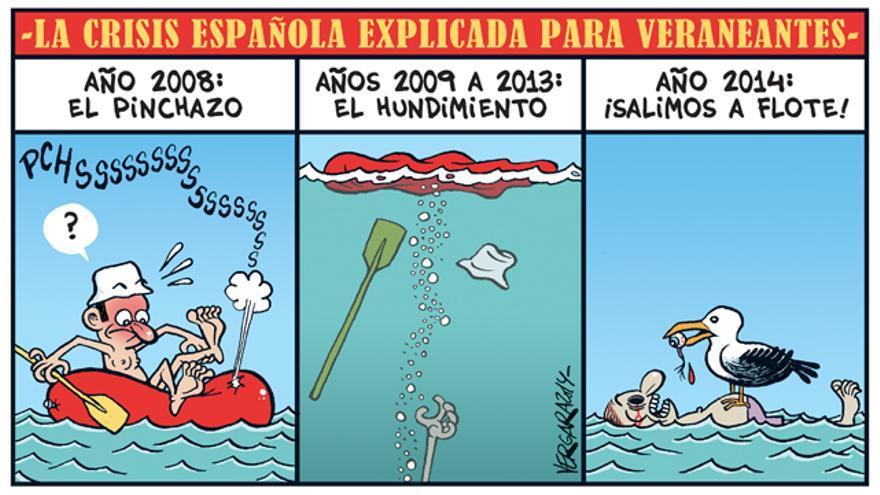 La crisis española explicada para veraneantes