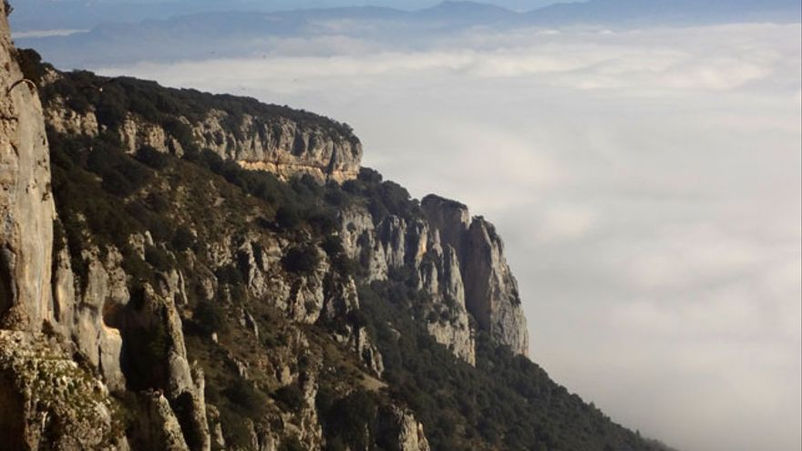 Vista de Etxauri con el Pirineo al fondo (© Mikel Zabalza).