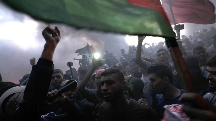 Protestas en el perímetro de separación entre Gaza e Israel. Octubre, 2018.