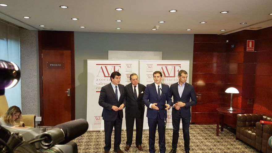 Fernando Giner, Vicente Boluda, Albert Rivera y Toni Cantó