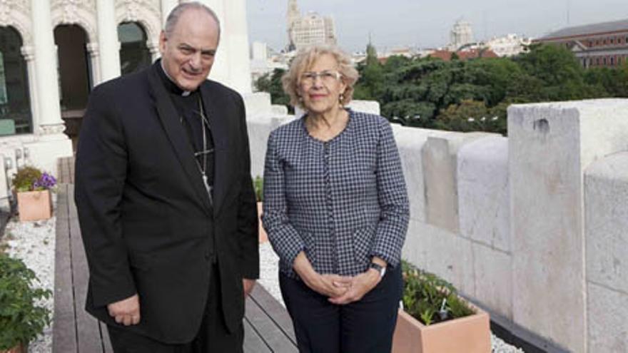 Manuela Carmena, con Sánchez Sorondo