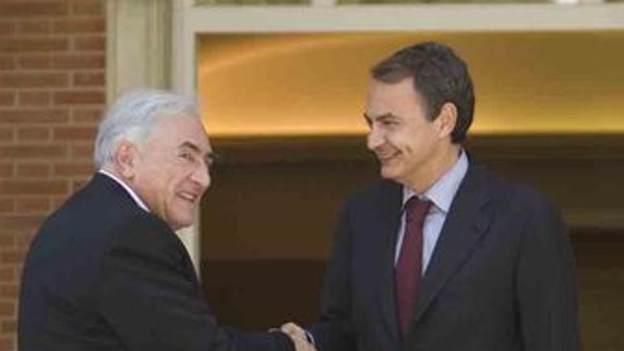 Director gerente del Fondo Monetario Internacional, Dominique Strauss-Kahn y el