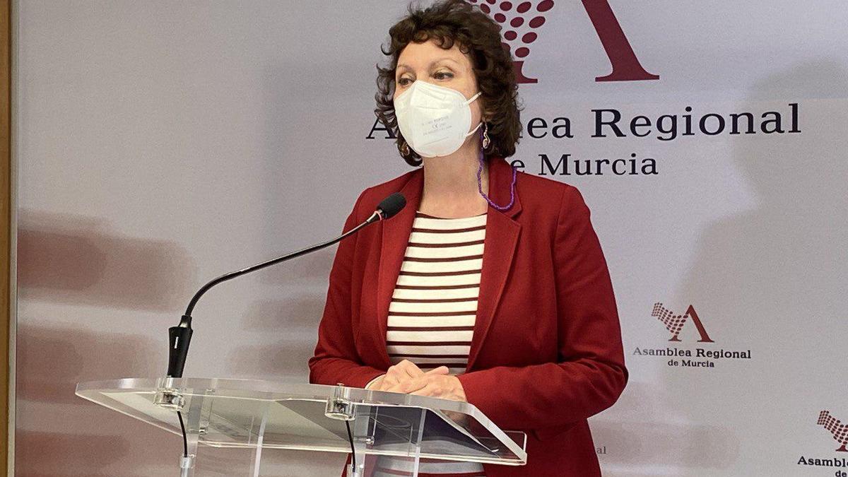 La portavoz de Podemos en la Asamblea Regional, María Marín
