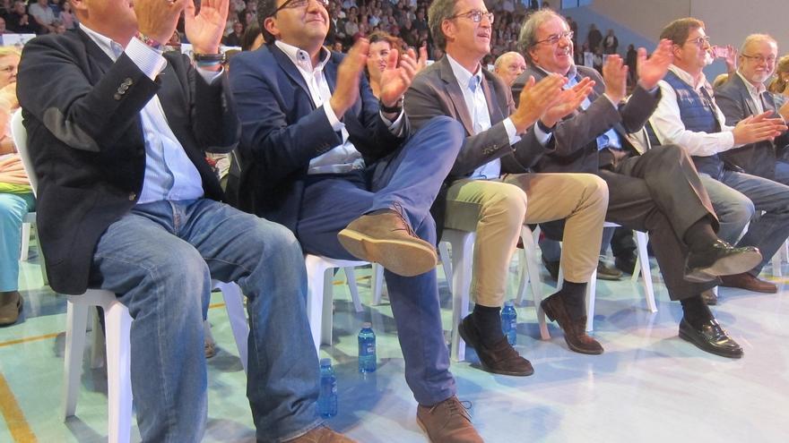 """Herrera pide el voto para el """"patriota"""" Feijóo, al que sitúa entre """"los mejores"""" dentro del PP: """"Es un lujo"""""""