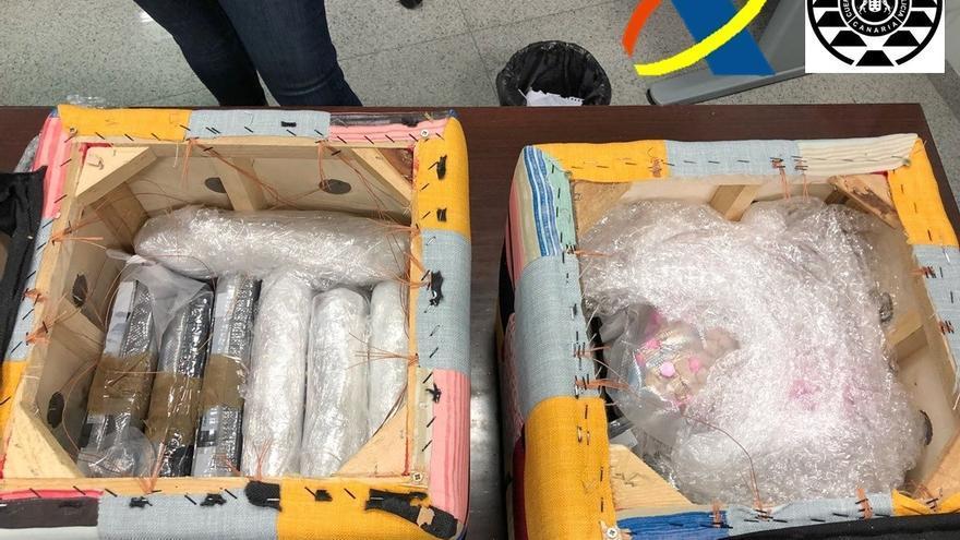 La sustancia intervenida por la Agencia Tributaria y la Policía Canaria, en una foto remitida a los medios