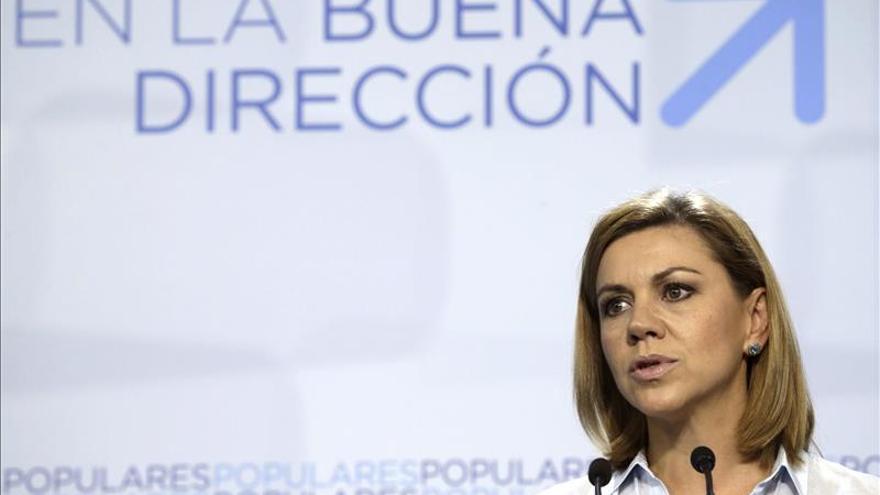 """Cospedal descarta cambios en el PP, que ha sido """"contundente"""" con la corrupción"""