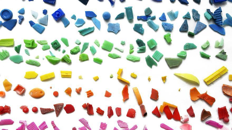 Fragmentos de plásticos encontrados en el mar /CSIC