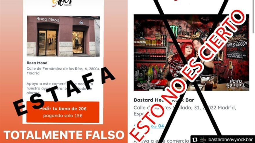 Comercios de Madrid avisan en Instagram de que no han dado su consentimiento para participar en 'Eroes Somos Todos'