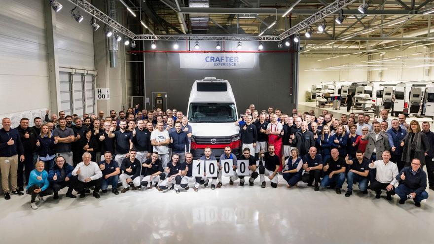 La unidad número 1.000 de la Grand California fue producida en planta de fabricación de la Volkswagen Crafter en Polonia
