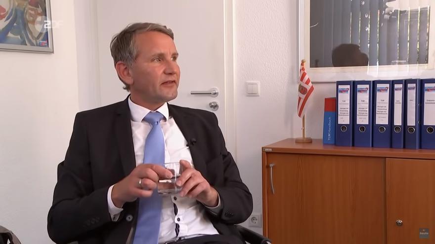 Björn Höcke en una entrevista concedida a ZDF