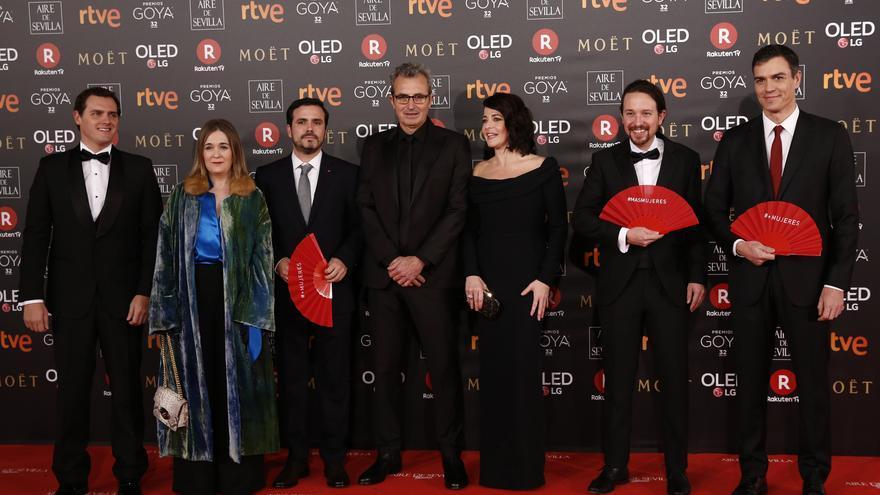 Los políticos se suman a la reivindicación feminista de los Goya