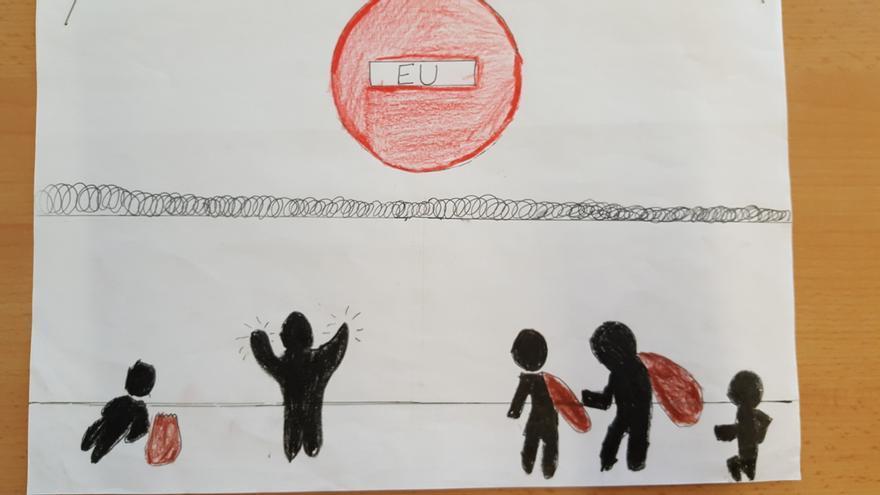 Los dibujos que ilustran el reportaje están hechos por los alumnos de la escuela Garigot de Castelldefels
