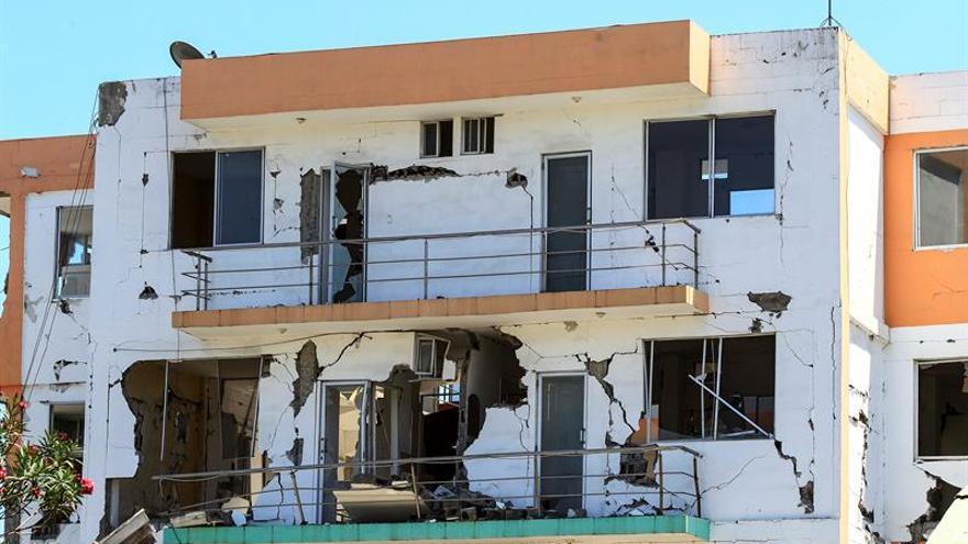 Aspecto de los destrozos causados en las edificaciones afectadas por el seímo de abril de 2016, despues del terremoto en Canoa (Ecuador). EFE/Archivo