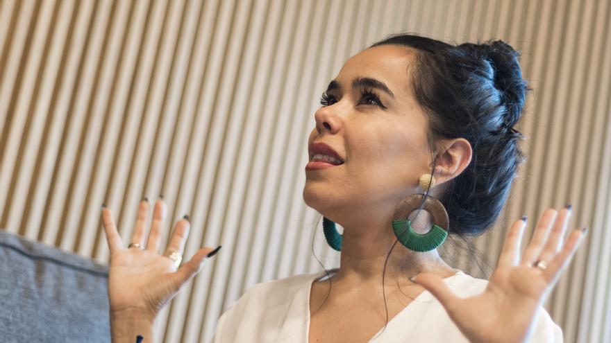 Beatriz Luengo durante la entrevista con eldiario.es