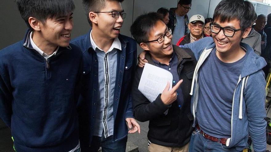 Aplazan la sentencia a los líderes de las protestas democráticas de Hong Kong