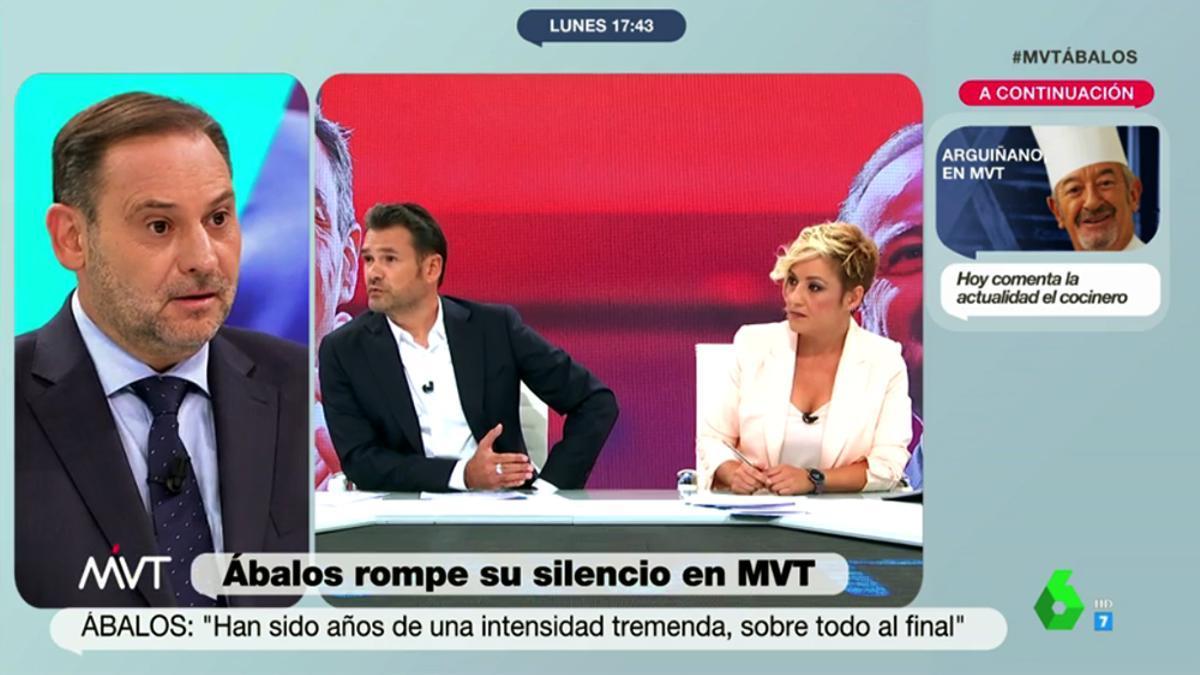 Iñaki López y Cristina Pardo entrevistan a Ábalos en 'Más vale tarde'