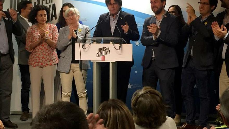 Puigdemont dice que ha ganado por su apuesta de la unidad del independentismo