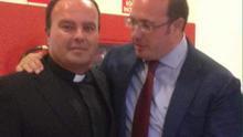 Alfonso Alburqueque con el expresidente murciano Pedro Antonio Sánchez