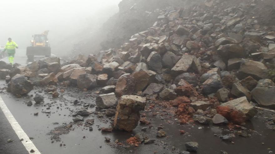 Imagen de archivo de días pasados de un desprendimiento en la zona de Los Andenes.