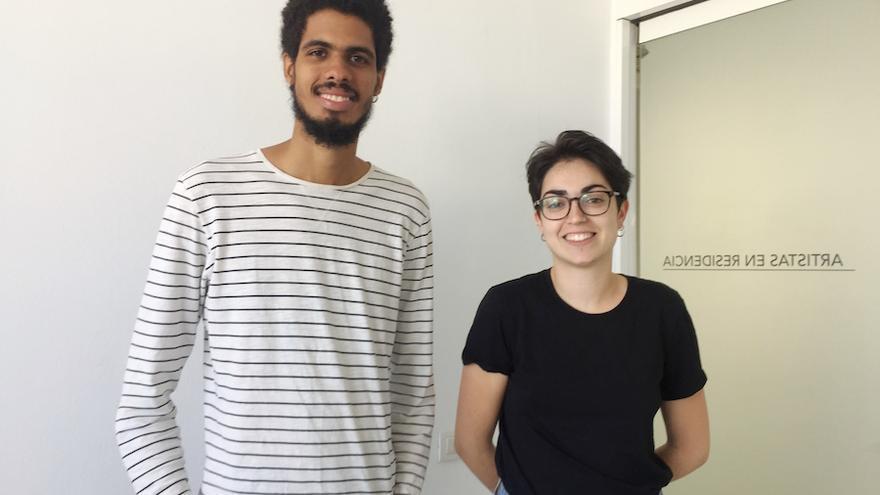 La grancanaria Saskia Rodríguez y el caboverdiano Yuran Henrique en el CAAM.