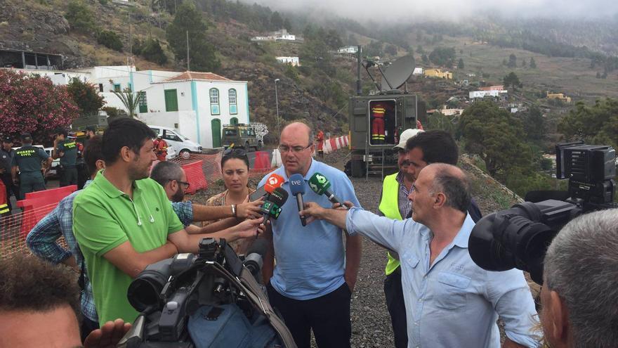 Anselmo Pestana ha mantenido este lunes un encuentro con los medios.