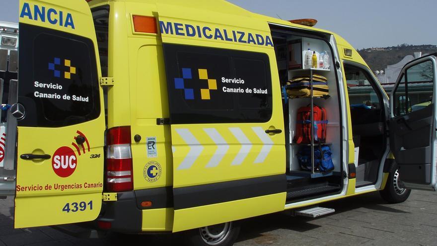 Ambulancia medicalizada del Servicio de Urgencias Canario (SUC).