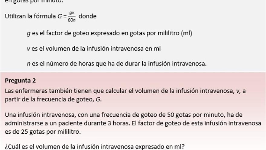 Ejemplo de ejercicio de PISA: Problemas matemáticos