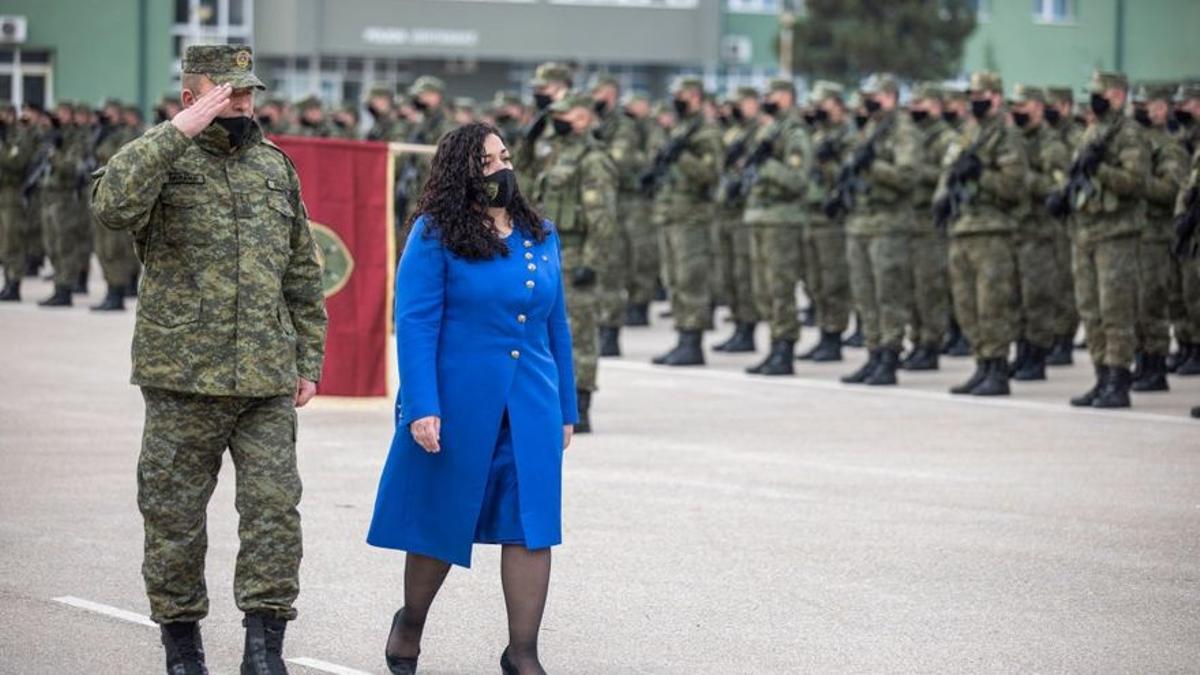 Vjosa Osmani, presidenta de Kosovo