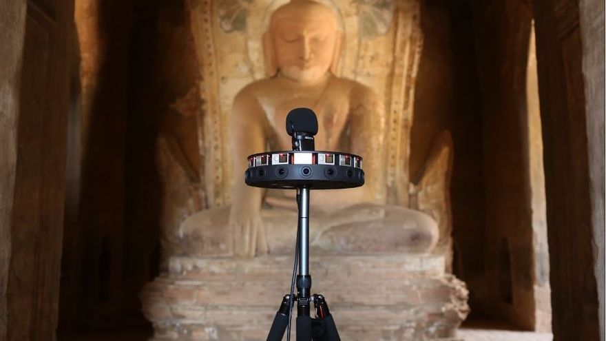 Varias cámaras gran angular para generar una imagen 360º