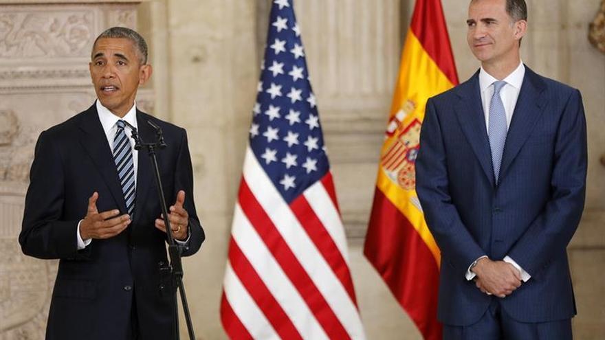 """El Rey traslada a Obama su compromiso de """"mantener la más estrecha colaboración"""""""