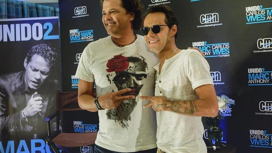 La gira de Carlos Vives y Marc Anthony, la sexta más taquillera del mundo en 2015