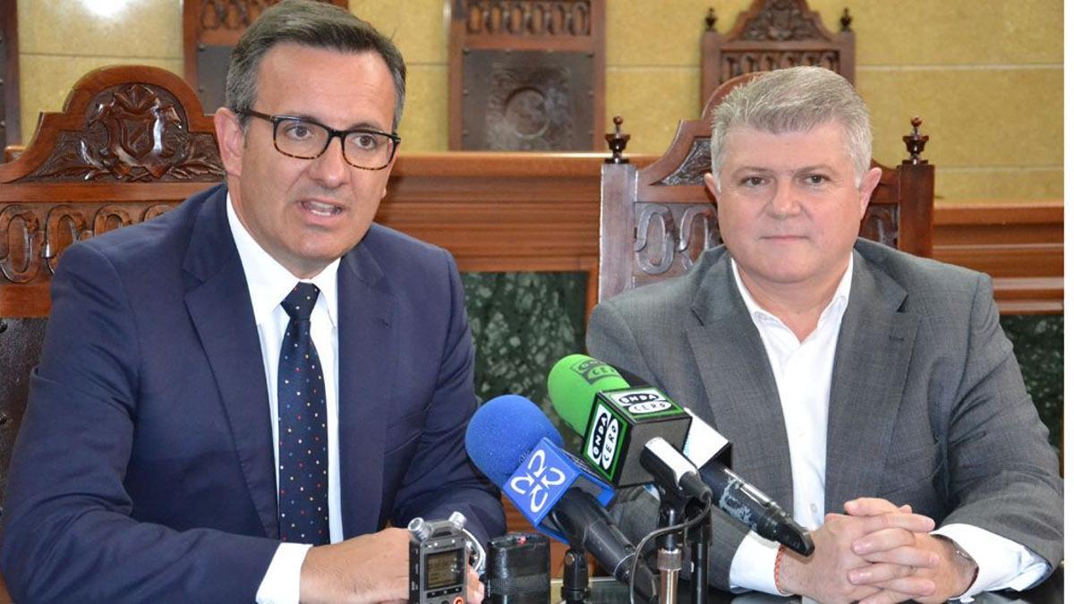 Diego Conesa y José Vélez, juntos en Calasparra en 2018.