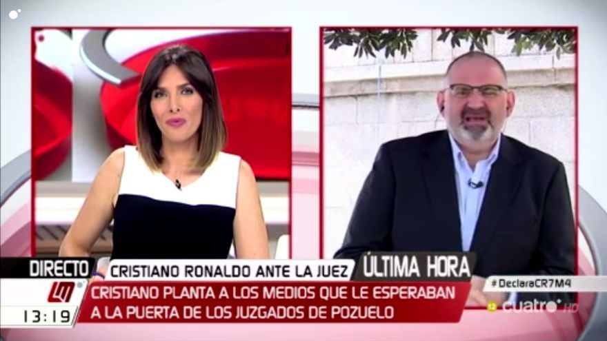 """Las teles critican a Cristiano por su """"plantón"""" tras declarar ante el juez"""